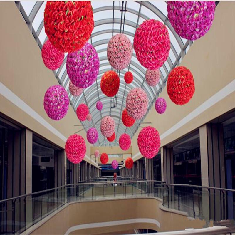 """30 cm / 12 """"الاصطناعي زهرة روز الحرير تقبيل كرات كبيرة الحجم الزهور الكرة لعيد الميلاد الحلي حفل زفاف الديكور"""