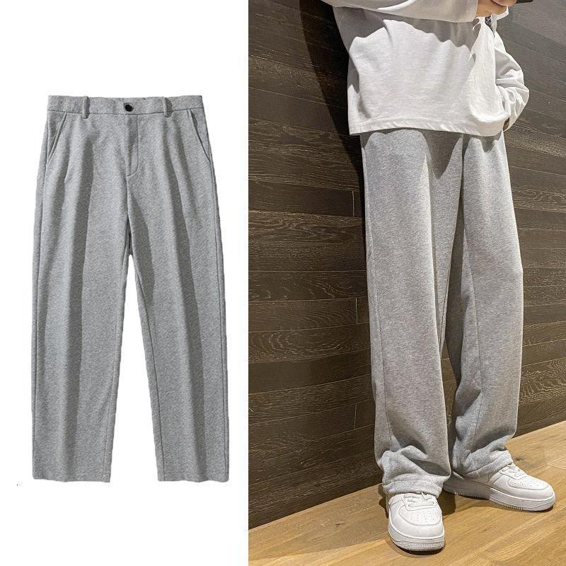2021 Весна Новый Свободные прямые спортивные брюки для мужчин