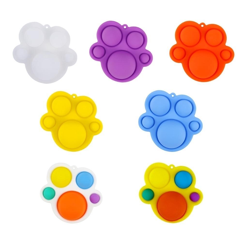 100 unids push tik tik tok fidget juguetes simples niños adultos lindo juego juego sensory dedo burbuja juguete juguete ansiedad estrés reliever necesario descompresión juguete h31lxhh