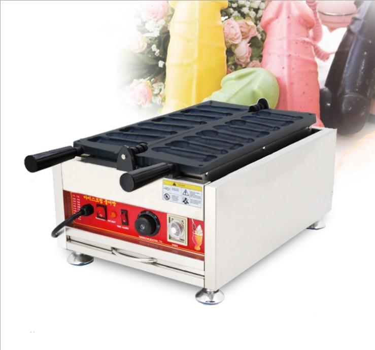 Nouveau usage de gaufres de pénis commercial Taiwannais Equipement de collations populaires de bâton gaufre de gaufres Waffle Dog fabricant électrique