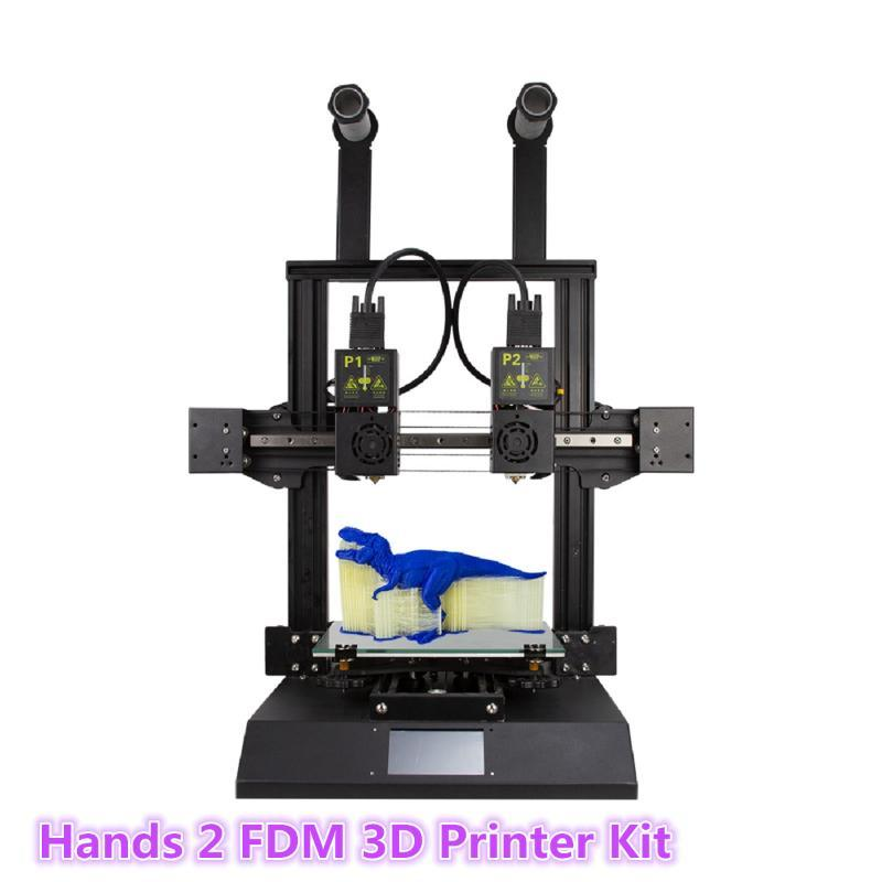 TENLOG Hands 2 FDM 3D Printer Kit 220*220*250mm Print Size with Dual Nozzl Extruder/Powerful Mainboard/Modular Xaxis/Dual Motor