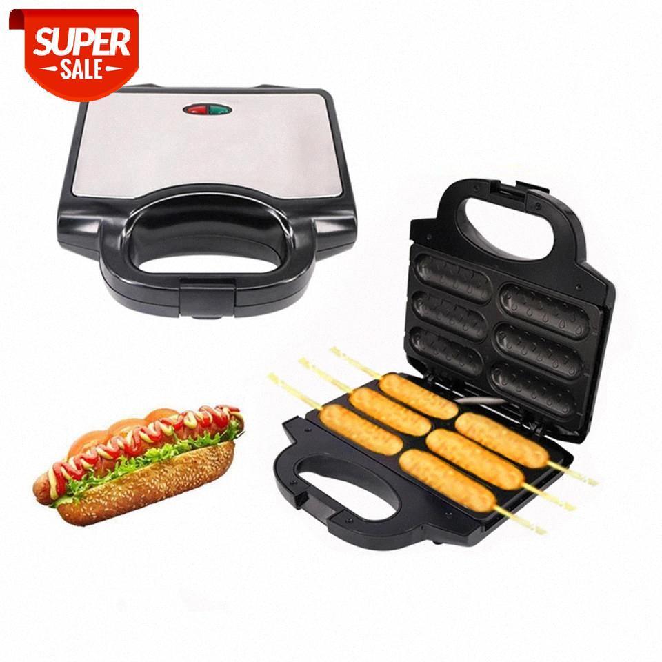 Elektrikli 850 W Sıcak Köpek Yapışmaz Kaplama Waffle Makinesi Çıtır Corn Fransız Çörek Sosis Pişirme Makinesi Kahvaltı # Vo1A