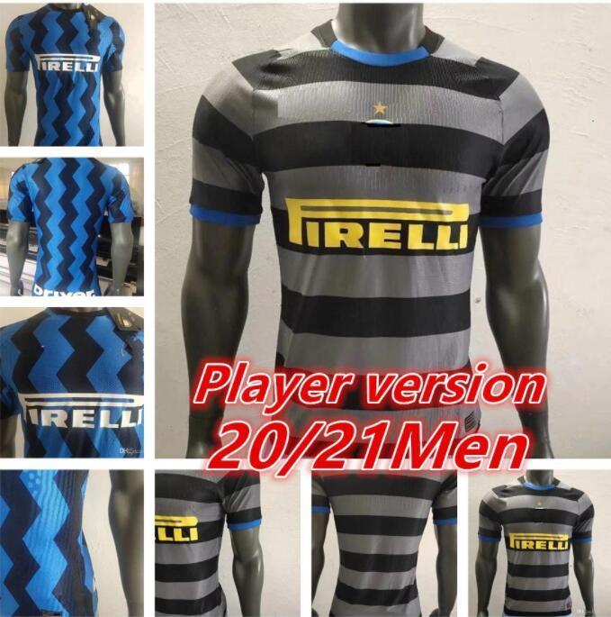 Player version 2021 LUKAKU LAUTARO Inter home away 3rd soccer jerseys BARELLA maglia 20 21 football top shirt Men sets uniform