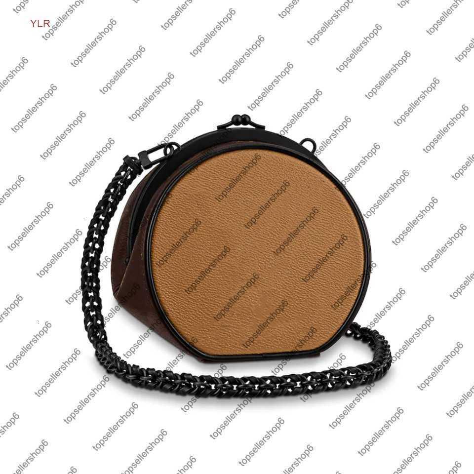 M45280 Boursicot BC цепь сумки Crossbody Calfskin-кожаная отделка Blockable Closure черный аппаратный дизайнер мини-сумка для мессенджера