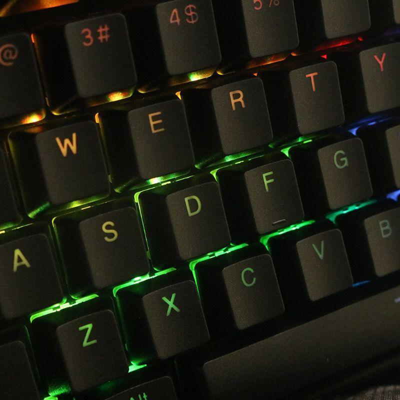 Клавиатуры Black White PBT Double S BLACKLIT 104 TOP-LIT SHINE через полупрозрачные клавиатуры для K70 K65 K95 RGB Mechanical