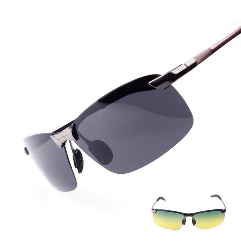 Tag und Nacht polarizierende Farbe, die Sonnenbrillen für männlichen Fahrer ändert