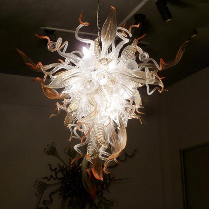 LED PostModern Рука вручить Стекло Лампы Лампы Люстры Люстры Освещение Энергосберегающее Свет для виллы Фойе для гостиной Арт Оформление