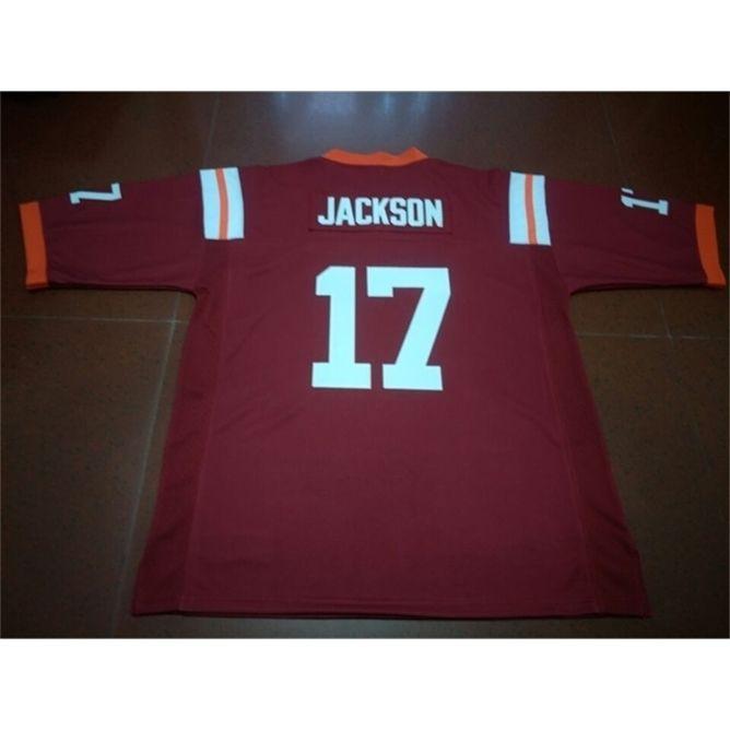 668 Virginia Tech Hokies Josh Jackson # 17 Real Full College College Jersey Size S-4XL или пользовательское любое имя или номер Джерси