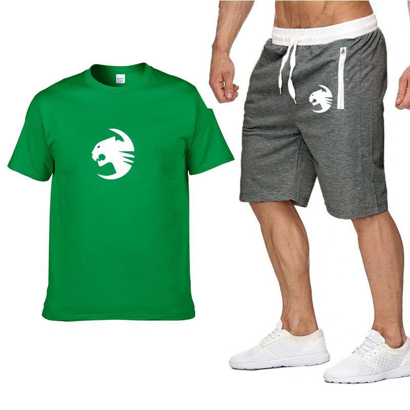 Diseñador 2020ss Summer Shirt + Short Men S camiseta + Pantalones cortos Traje Sudadera Fashion Casual Hombre Camiseta 2 Piezas Europa Ropa Tamaño S-2XL
