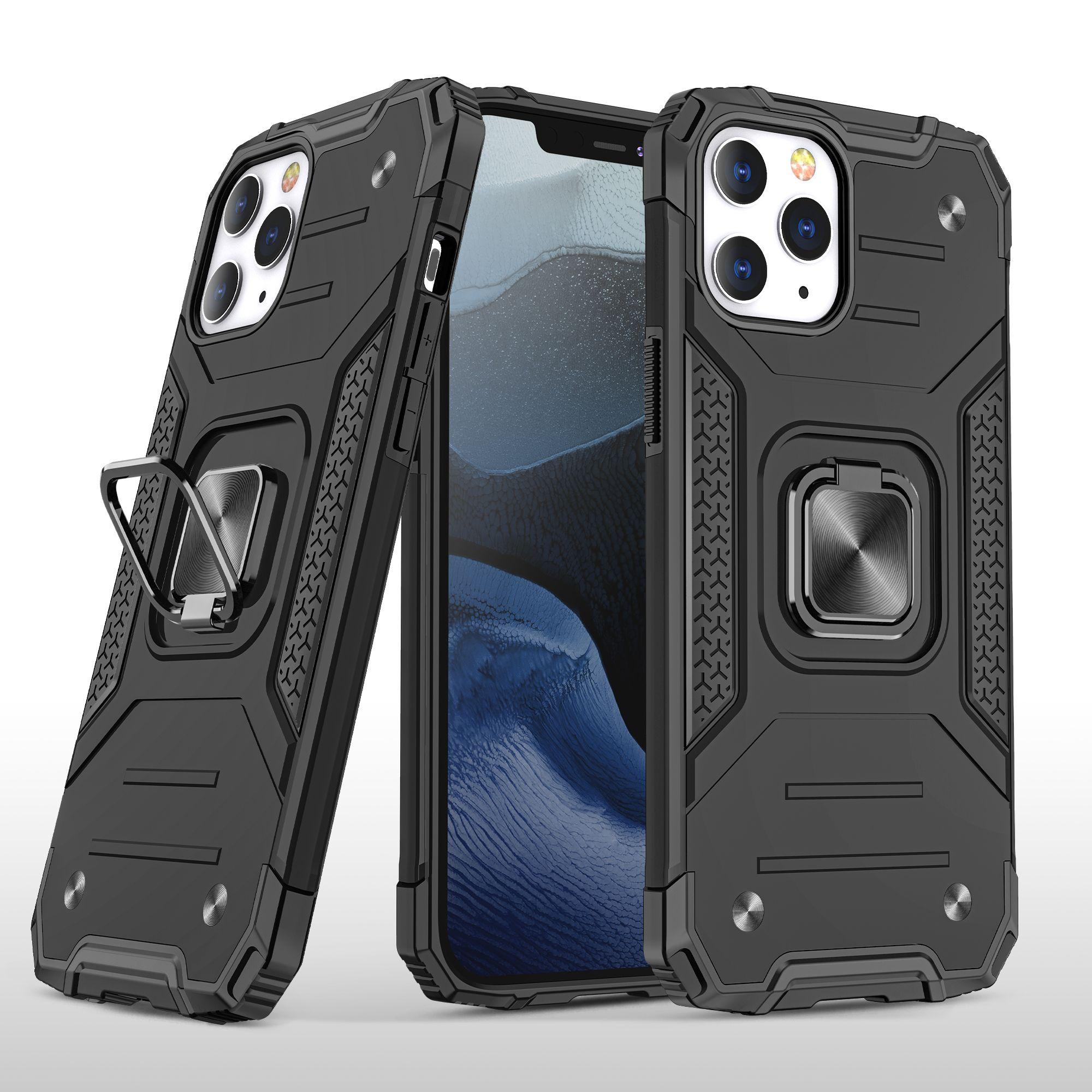 Anti-şok hibrid manyetik döner kickstand zırh kılıf iphone 12 pro max 11 pro max xs max xr x 8 7 6 artı