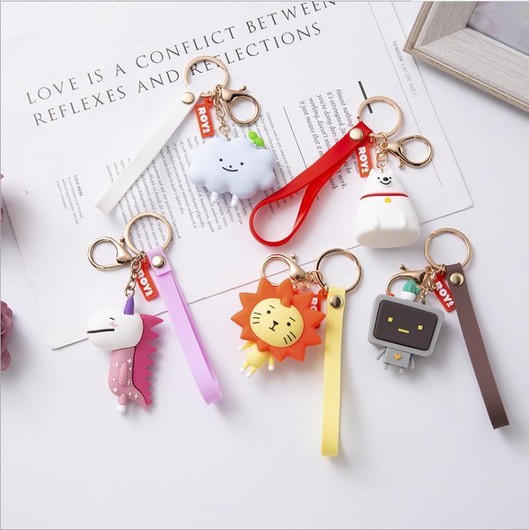 Keychain Leite Dos Desenhos Animados Laiyang Shizichao Marca Bonito Bonito Simples Novos Amantes Criativos Bolsas De Carro Pingente