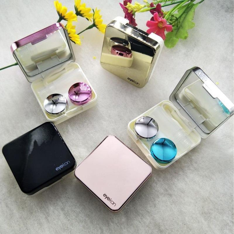 Mini Elegante custodia da viaggio per lenti a contatto semplice, kit di container anney set contatti lente con bottiglia con bottiglia con pinzette con 198 V2
