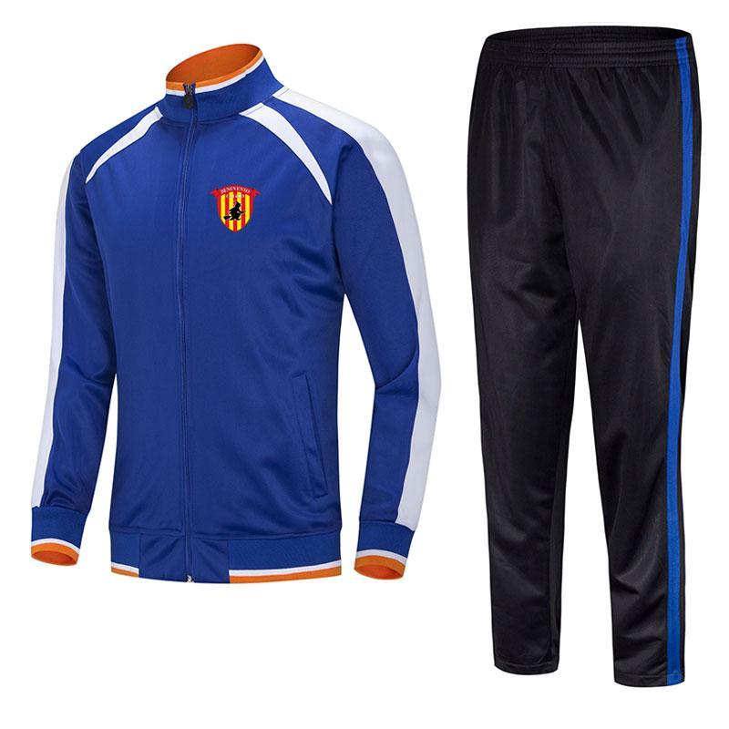 Benevento Calcio2021 Chaqueta El traje de entrenamiento de fútbol de fútbol se puede personalizar para cualquier equipo de patrón de equipo deportivo para hombres.