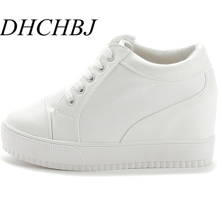حذاء اللباس S 2021 الخريف أسود أبيض خفية إسفين الكعوب عارضة المرأة المصعد عالية الكعب أحذية للنساء حجر الراين