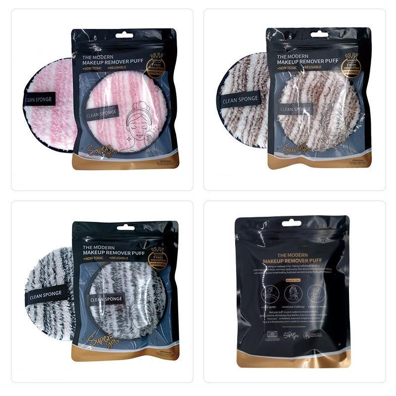 Makeup Remover Puff Clean Water Make-up Entferner Puder-Zug Natürliche doppelseitige Schwamm Reinigung Wiederverwendbare Make-up Entferner Baumwolle Faule Werkzeuge