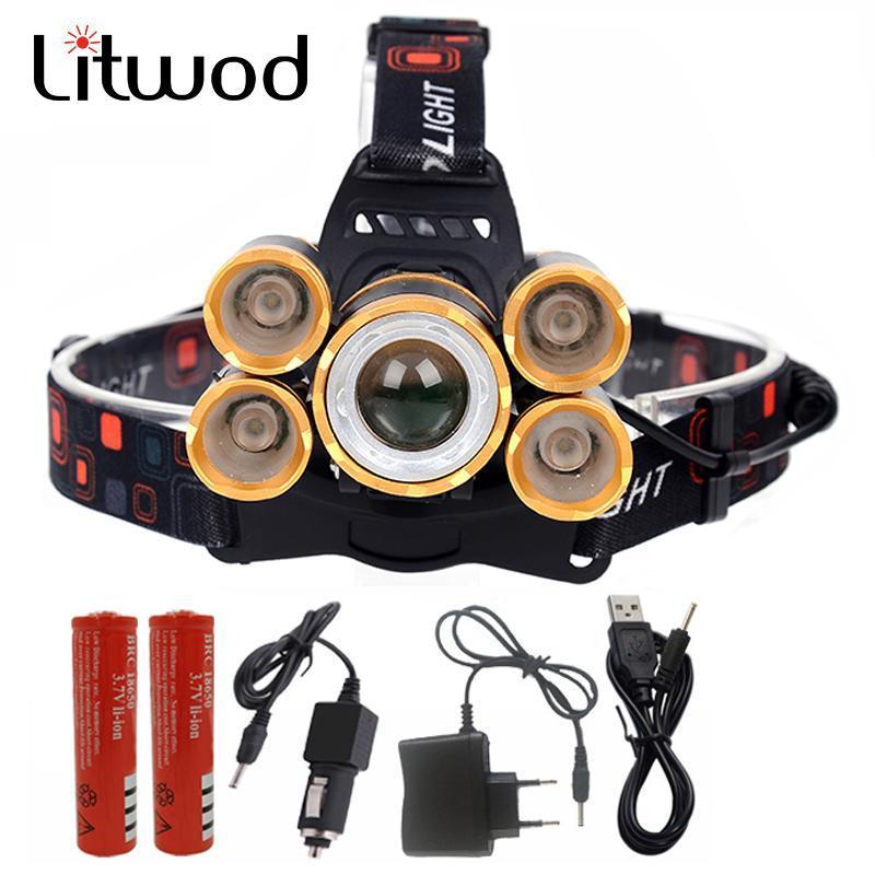ИК-датчик светодиодный фар фар фонарь луковицы 2x 18650 аккумулятор ZOOM XM-L T6 Waterpfoof Litwod головной ламп
