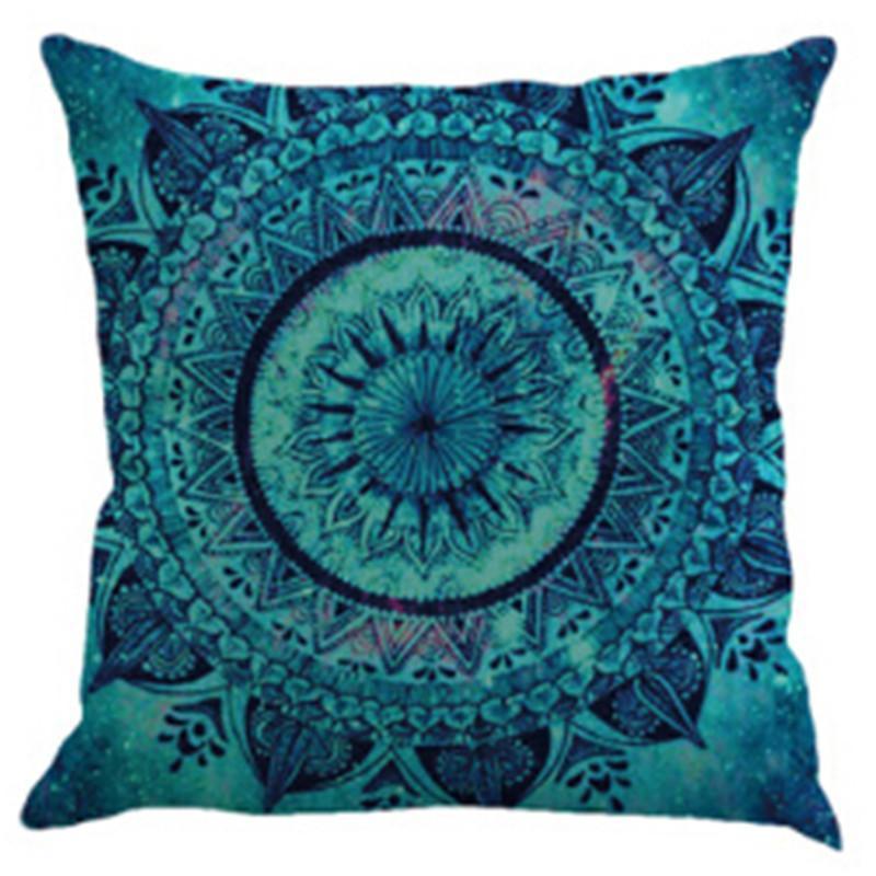 Nueva caja de almohada de ropa de cama Bohemio estampado de almohada para almohada de lino Cuadrado Coche Sofá Cojín Decorativo 18 pulgadas 18 pulgadas 2021