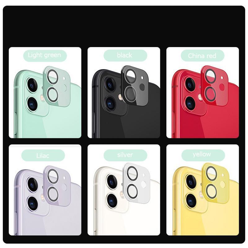 9D 카메라 렌즈 수호자 아이폰 11 12pro 최대 뒷 표지에 화려한 보호 필름 화면 강화 유리