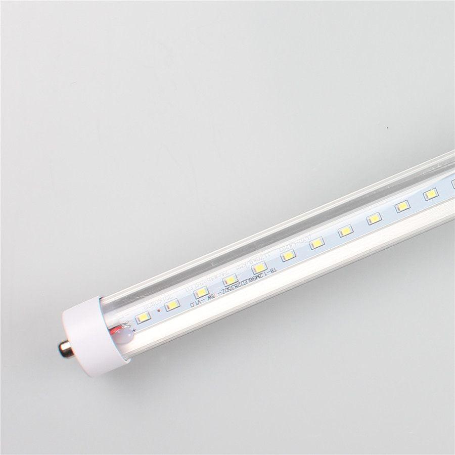 T8 Led Tubes Lights 4FT FA8 Un singolo PIN 18W AC85-265V PF0.95 1700LM 2835SMD 1200mm R17D Ruota la lampadine fluorescenti di base diretta da Shenzhen China Factory Commercio all'ingrosso
