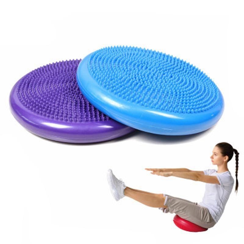 PVC Inflatable Yoga training Mat Cushion Stability Sports Point Elastic Massage Fitness