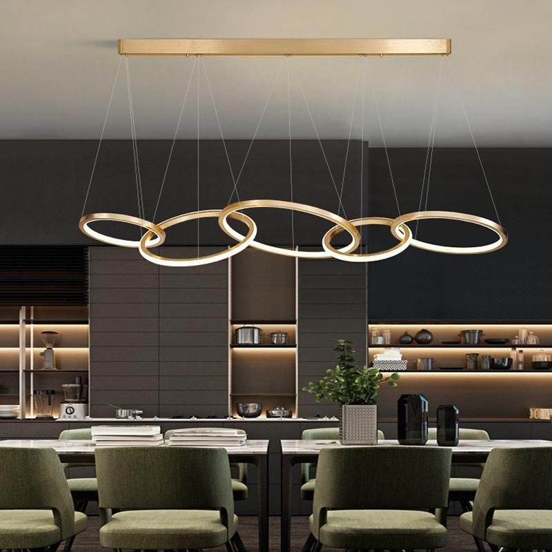 Современное искусство деко светодиодные люстры Освещение столовой светодиодный люстр лампы магазин декор висит света подвеска подвеска светильник
