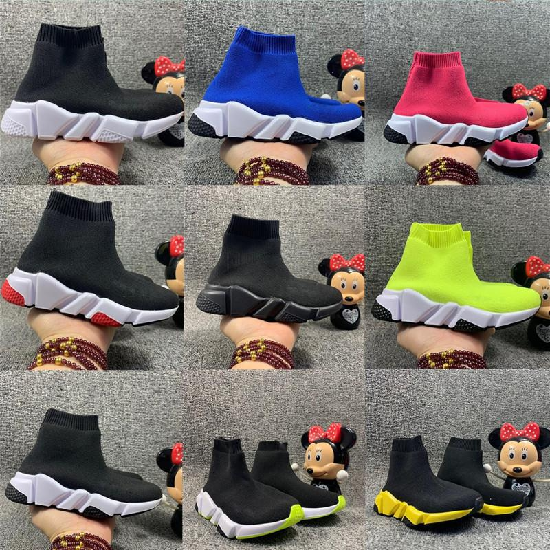 Niños infantiles Punto de punto Sock Corredor de punta de punto Mid High Light Zapatillas de correr Black Wine Sneaker Girls Boys Sports Calzado Niños Calzado de baloncesto