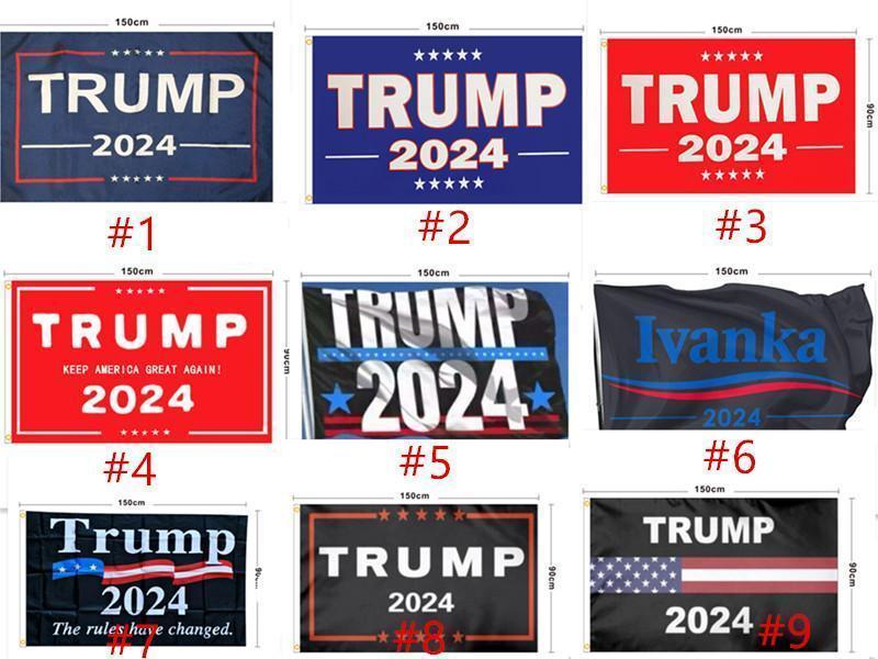 В наличии Трамп Флаг 2024 Избирательный флаг Баннер Дональд Трамп Флаг Храните Америку Большое снова Иванка Трамп Флаги 150 * 90см 13 стилей