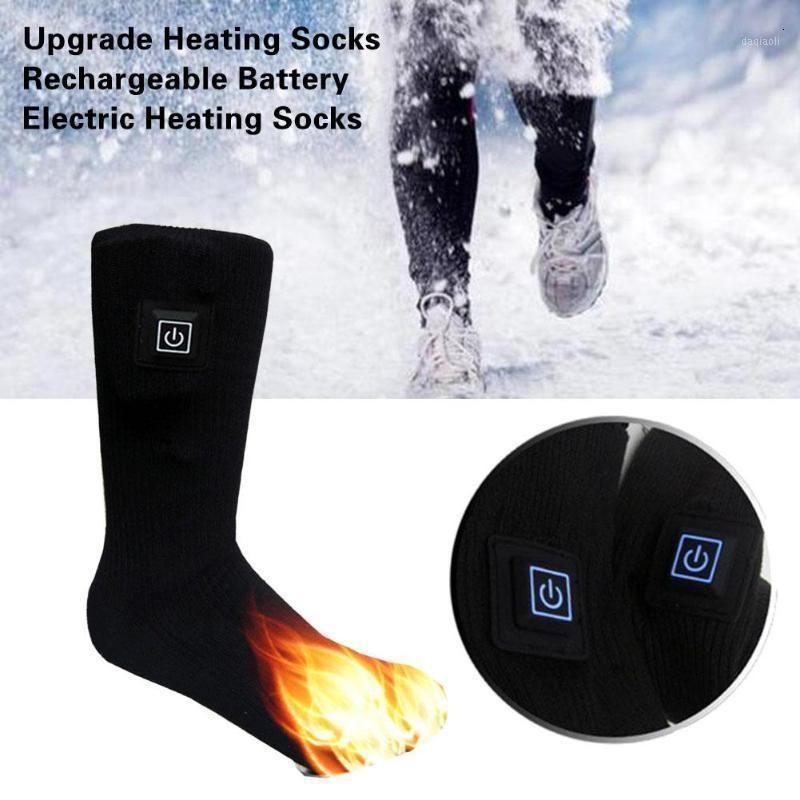 Engrossar Meias Aquecedor Aquecida Meias Elétricas Bateria Recarregável para Mulheres Homens Inverno Ao Ar Livre Esqui Cycling Sport Heated1