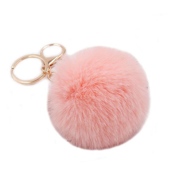 Tavşan Faux Kürk Pom Poms Anahtar Fobs Yumuşak Ve Bulanık Kabarık Ponponlar Anahtarlıklar Puf Anahtarlık Kadınlar Kızlar Çantası Aksesuarları Süsleme