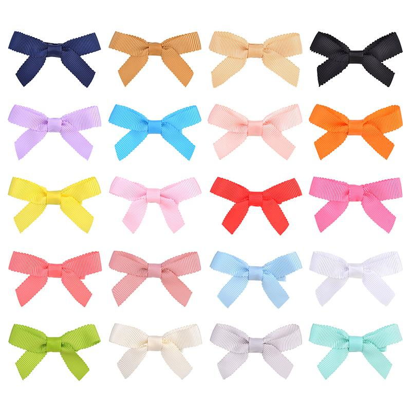 20 Colors Solid Bowknot Hair Clips For Cute Baby Girls Hairpins Barrettes Headwear Kids Hair Accessories