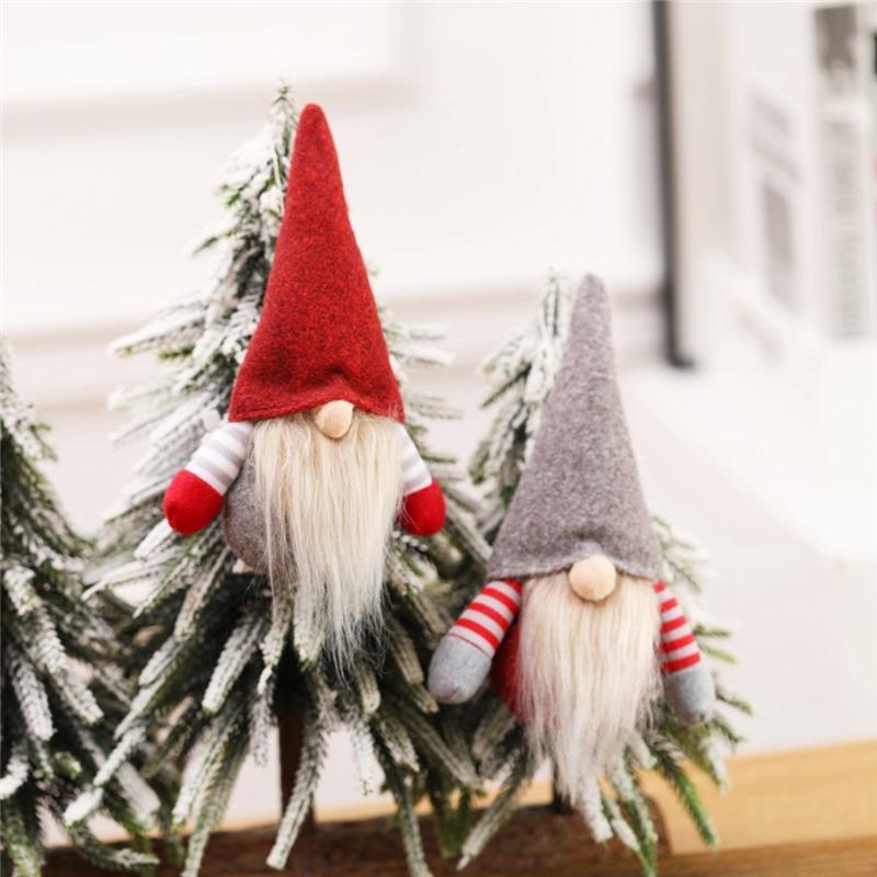 크리스마스 수제 스웨덴어 그놈 Scandinavian Tomte 산타 Nisse 노르딕 봉제 엘프 장난감 테이블 장식 크리스마스 트리 장식