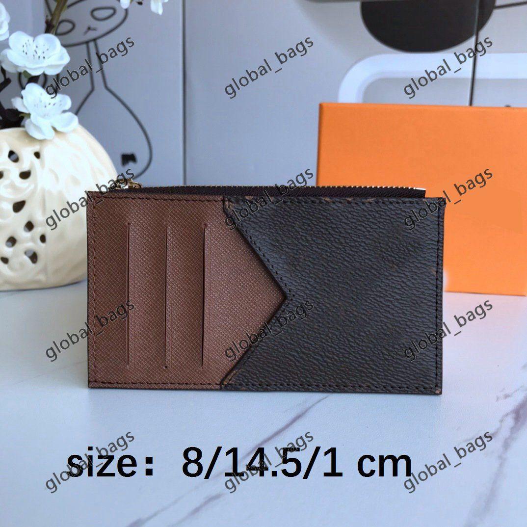 card holder cards credit passport holders 2021 hotsale wholesale men women fashion original black leather ID cardholders pattern plaid solid colormulti-bit