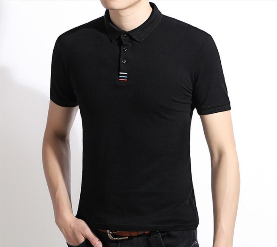 XCX142 Мужчины Летняя печать Поло рубашка с коротким рукавом Slim Fit Polos Fashion Streetwear Tops Мужские футболки спортивные повседневные рубашки OWWP