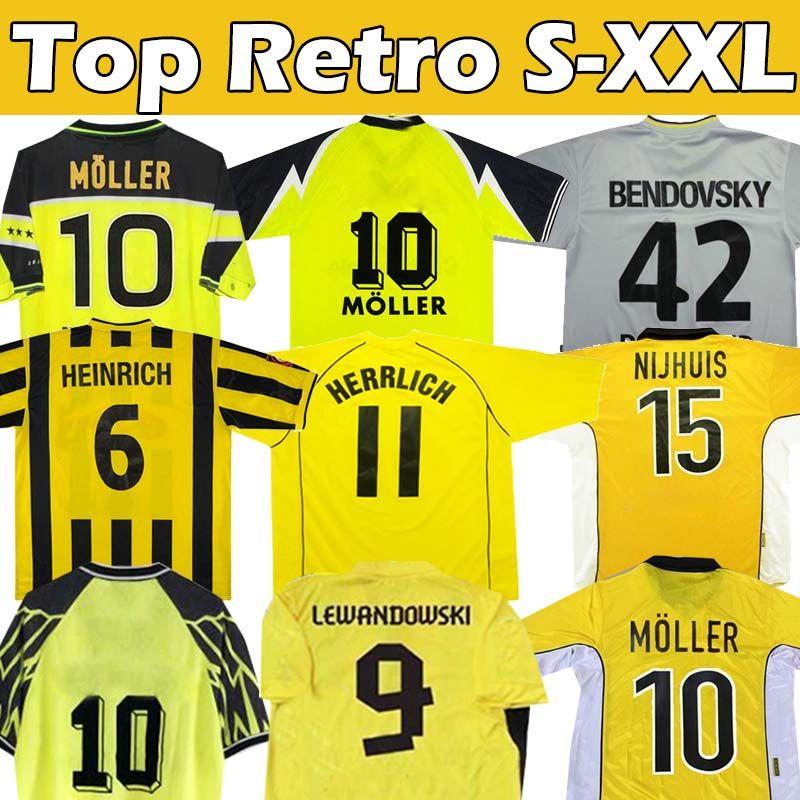 Retro Soccer Jerseys Classic Vintage 2012 13 Lewandowski Rosicky Bobic Koller 1994 95 96 97 98 99 Möller 2000 01 02 03 Reus Football Jersey