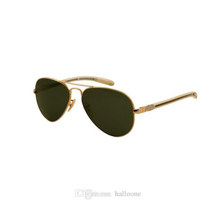 الكلاسيكية جولة ماركة النظارات الشمسية مصمم الفاخرة uv400 نظارات معدنية الذهب إطار نظارات الشمس الرجال النساء مرآة تصميم القبول الزجاج عدسة