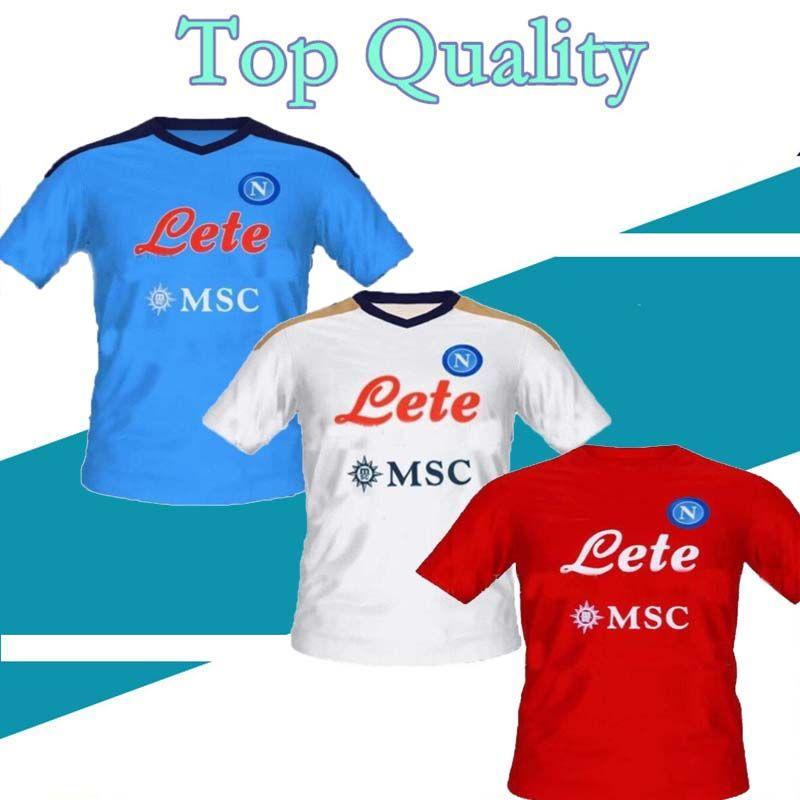 S-XXL 21 22 Napoli 축구 유니폼 2021 2022 나폴리 Koulibaly Camiseta Fútbol Insigne Milik H.Lozano Mertens Maillot de Football Shirt