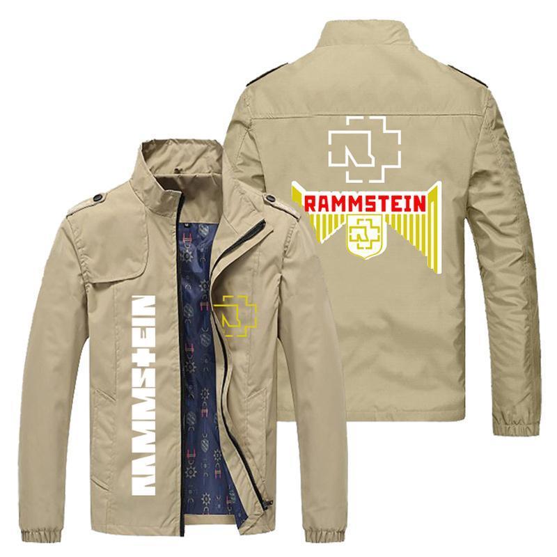 Männer Jacken 2021 Stilmäntel Slim Fit Oberbekleidung Stehkragen Lokomotive Baseball Marke Casual Jacke