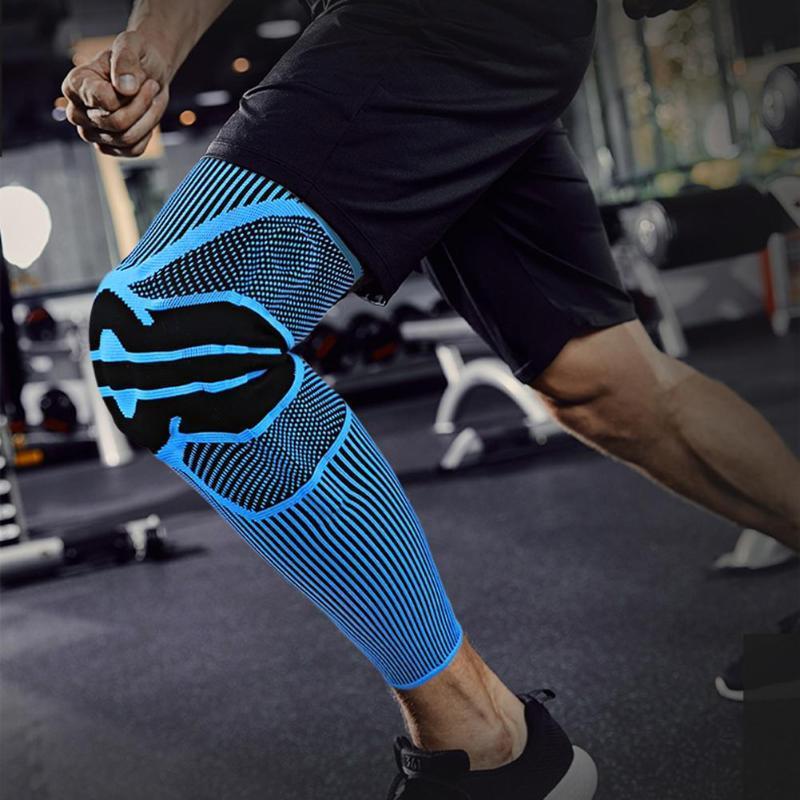 Ellenbogen-Knie-Pads Niedlicher elastischer Träger-Klammer Tragbare Polyesterfaser-Kompressionshülsenbeine für den professionellen Schutz