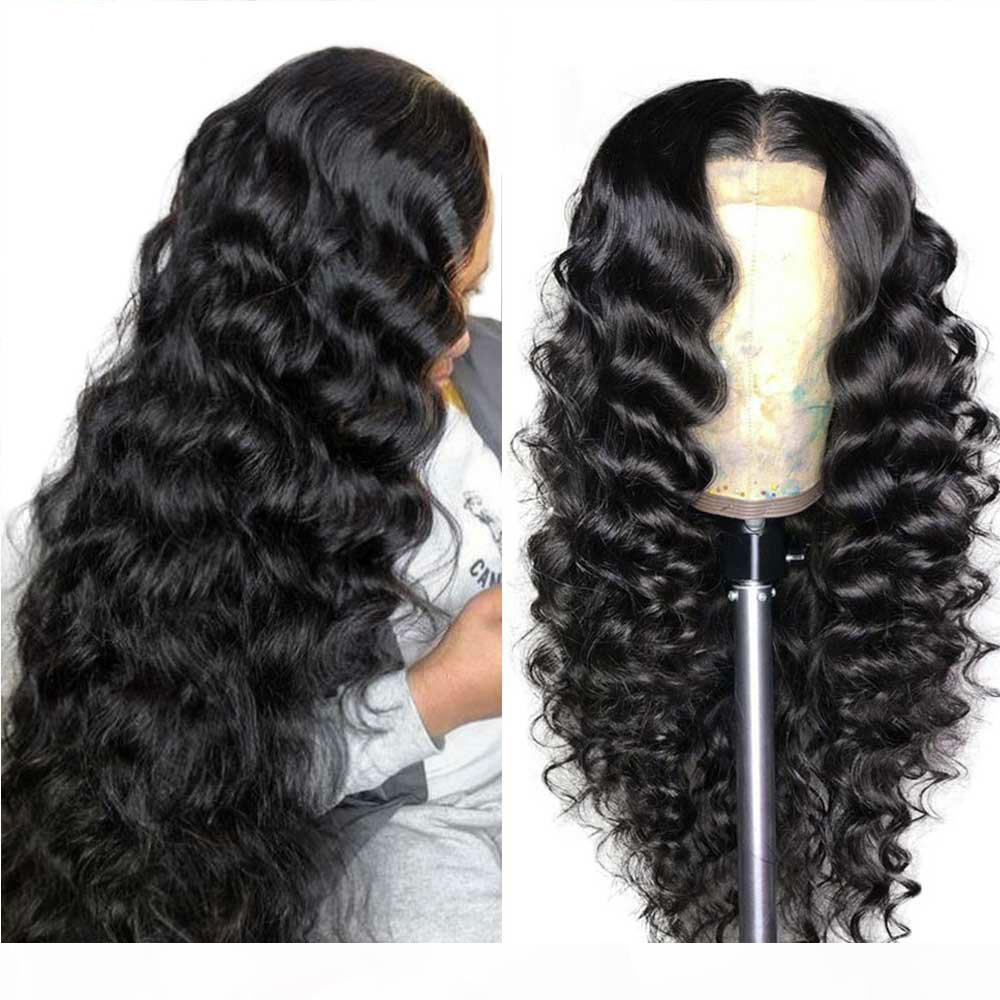 Gevşek Derin Dalga Peruk 13x4 Dantel Ön İnsan Saç Peruk Kadınlar Için 13x6x1 Brezilyalı Saç Peruk PreKult 360 Dantel Frontal Peruk