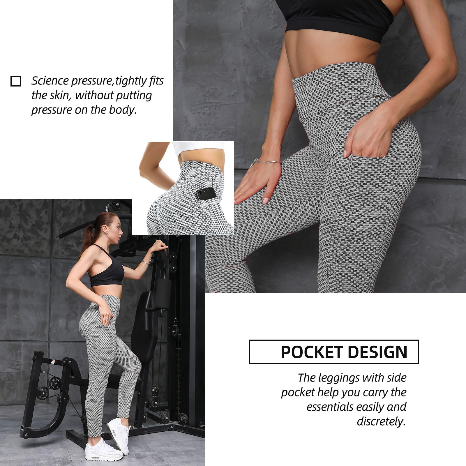 LU Yoga Outfits wholesale Exercise Fitness Wear TikTok Ladies Tights Lift Hips High Waisted Pants Pocket Grey Color Athletic Apparel Lady skinny Overall Size S-XXXL