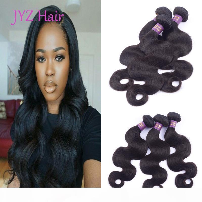 El cabello brasileño teje 100% sin procesar Virgin Virgin Hermanos humanos Indio Malasia Peruano Extensiones de cabello 3 PCS Doble Body Wave TRATAMIENTO