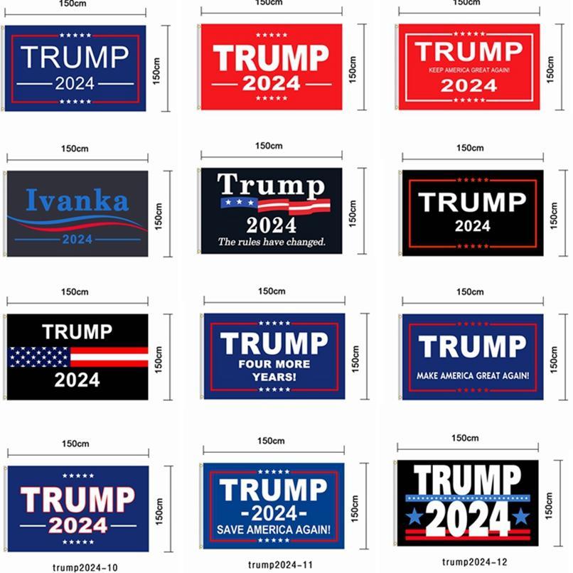 Trump Flag 2024 Bandiera elettorale Banner Donald Trump Bandiera Tenere America Grande di nuovo Ivanka Trump Bandiere 150 * 90cm 12Style HHA1726