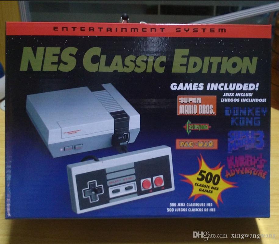 مصغرة الكلاسيكية لعبة تلفزيون الفيديو المحمولة وحدة التحكم أحدث نظام الترفيه الألعاب الكلاسيكية ل 500 جديد طبعة نموذج NES لوحات المفاتيح