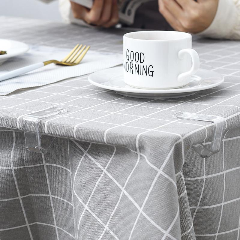 Bag Clips Tablecloth Transparent Non-slip Clip Fixing Buckle Household Table Corner Holder Plastic Small