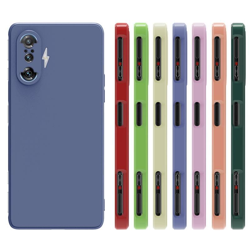 Straight Edge Square Liquid Silicone TPU Soft Cases Cover for XIAOMI 8 9 10 REDMI NOTE 10 PRO 100PCS/LOT