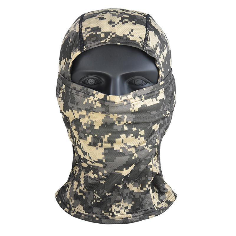 Bisiklet Kapaklar Maskeleri Hanwild Açık Aktif Kamuflaj Balaclava Tam Yüz Maskesi CS Wargame Avcılık Ordusu Kask Taktik Kapak Eşarp