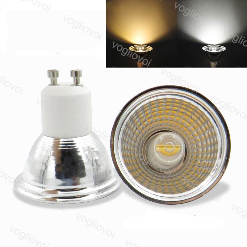 LED Bulb Dimmable 5W COB Ceramic GU10 110V 220V 80RA Warm White For Crystal Chandeliers Pendant Floor Lights EUB