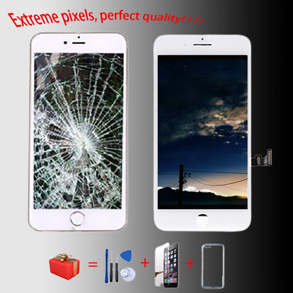 ل iphone7 8 6/6 ثانية زائد شاشة LCD جيدة +++ لفون 5 5S 6 / 6SWITH 3D لمس التجمع استبدال محول الأرقام الزجاج الجديد