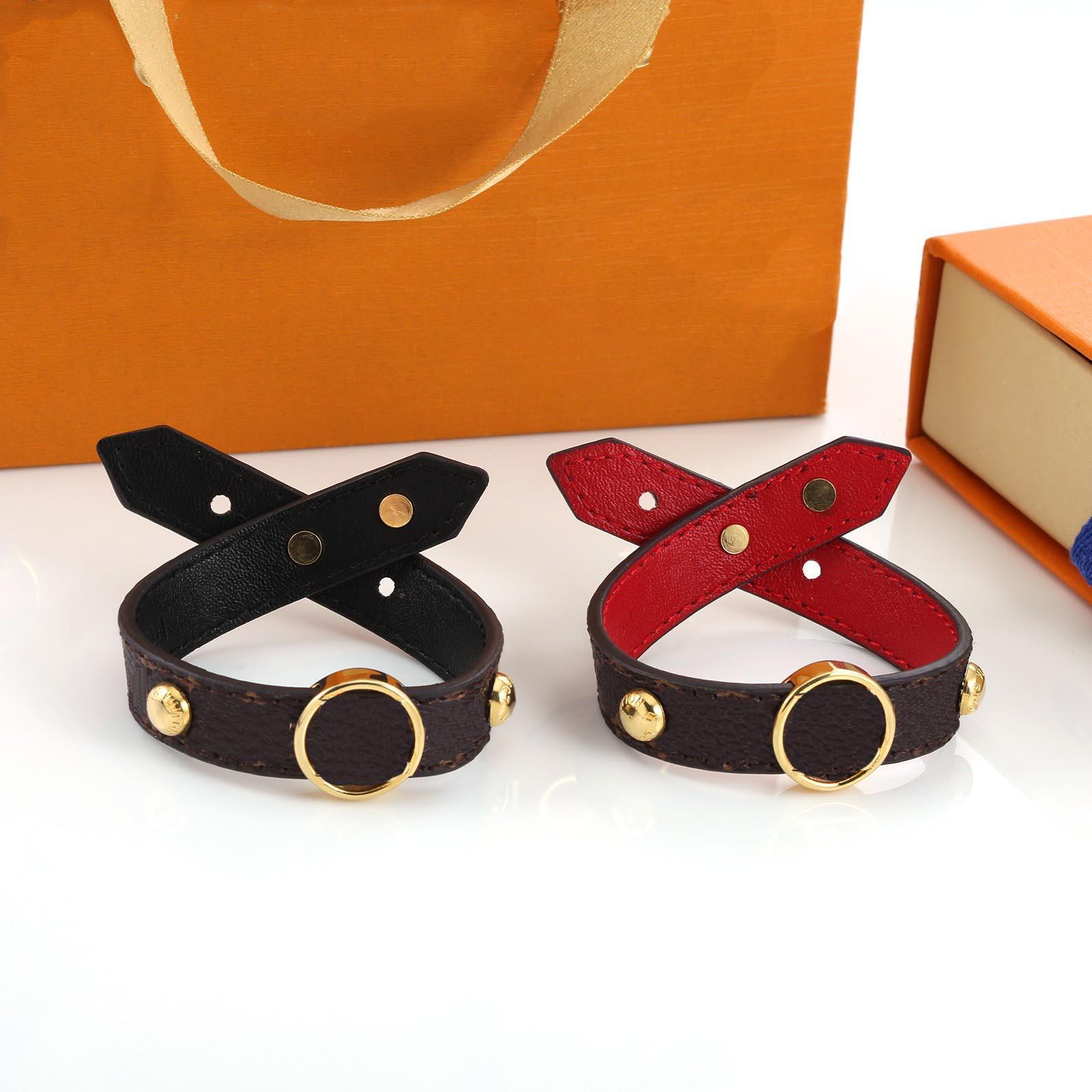 2021 Bracelet d'amour Unisexe Bracelet de mode pour homme Femmes bijoux Collier réglable Channel 2 couleurs avec boîte
