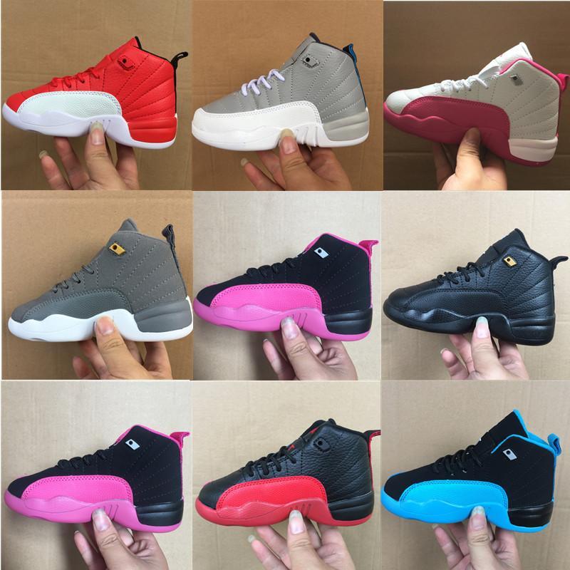 2021 Koyu Concord 12 12 S Jumpman Çocuk Koşu Ayakkabıları Bebek Eğitmenler Basketbol Ayakkabıları Ters Grip oyunu Eğitmenler Spor Sneakers